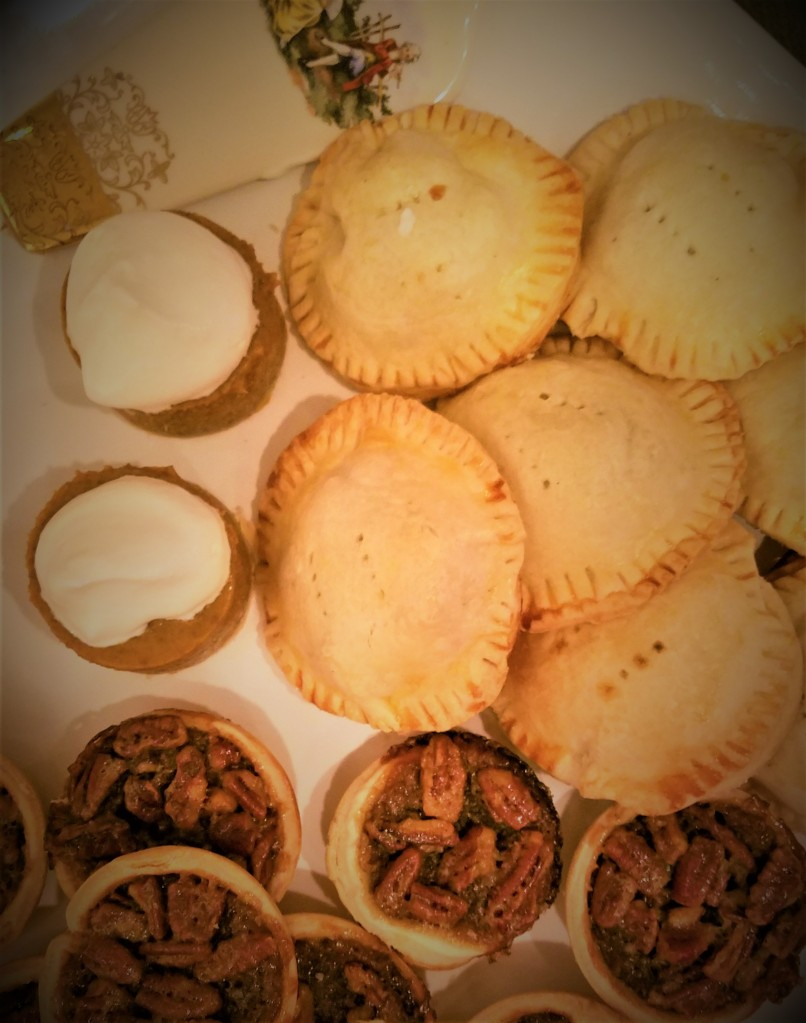 Platter of Mini Pies: Pumpkin, Apple, Pecan